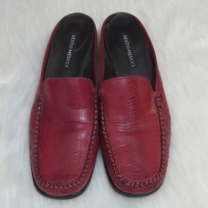 Gorgeous Sesto Meucci*8*Red Leather Mules